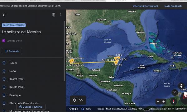 Geografia a distanza con Google Earth e Google Maps  Classe  III D